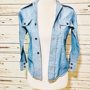 {LEVI'S} Vintage Embroidered Boys Chambray Top